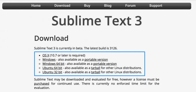 sublimeText3ダウンロード