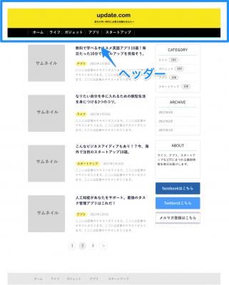 update.comのヘッダー解説