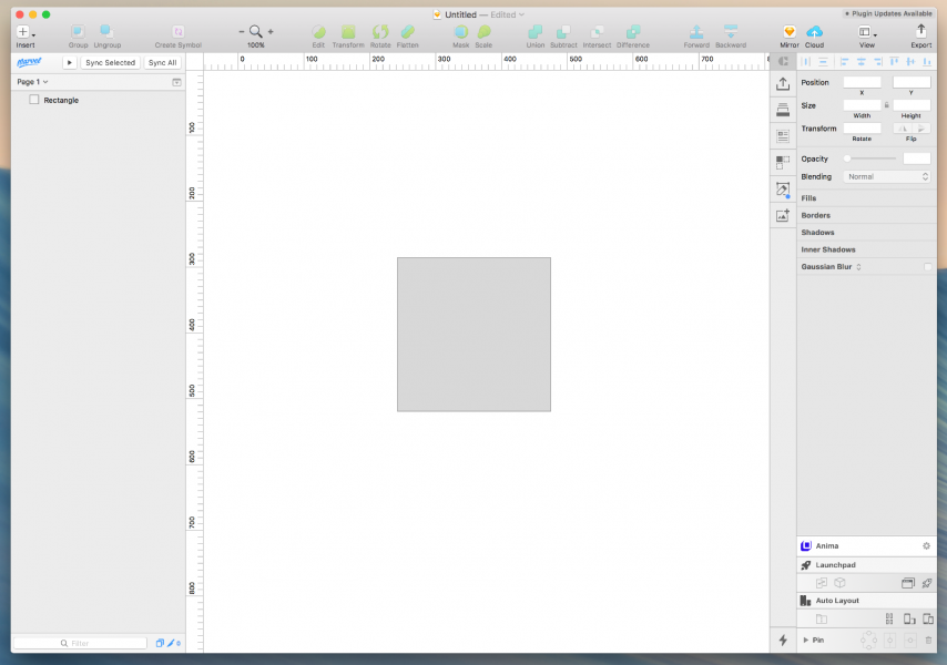 sketch shiftキーで正方形を描く