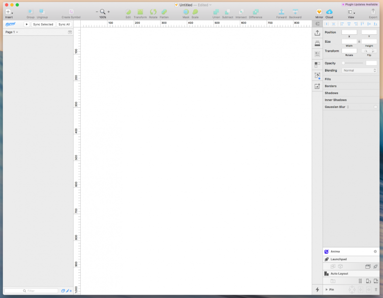sketchの操作画面