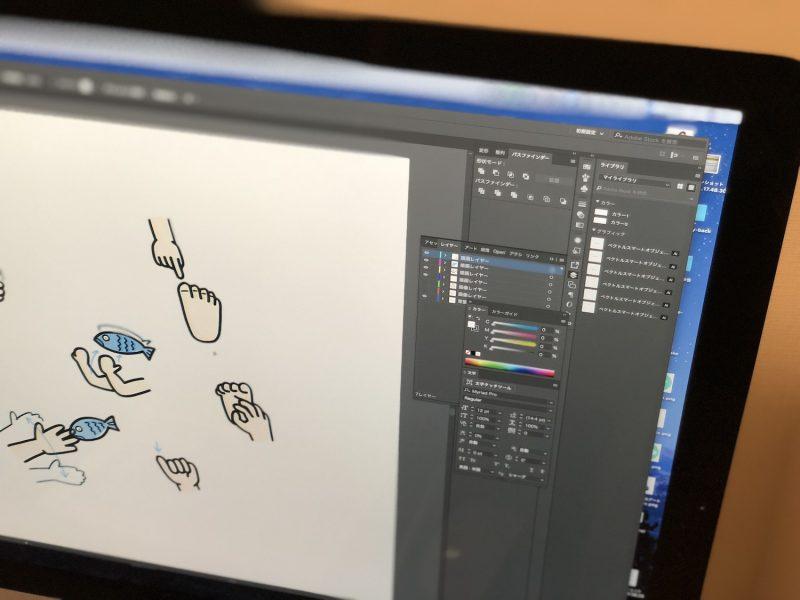Adobe drawのイラストをパソコンに転送